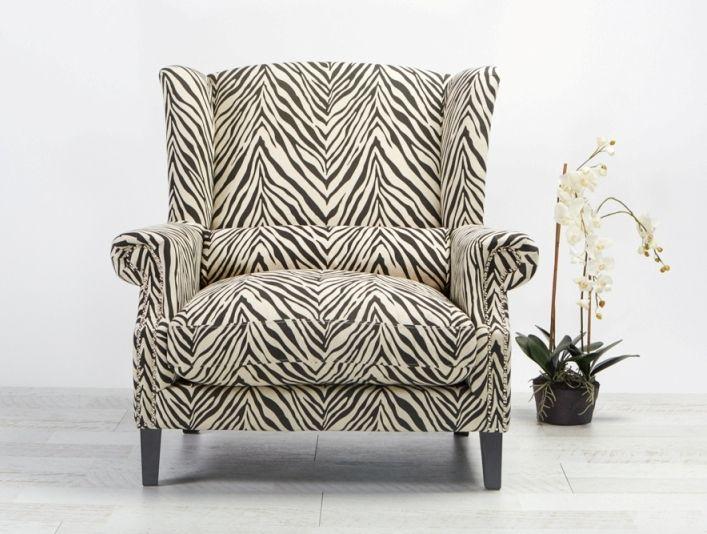 Celeste II Love chair Zebra from Villa Maison #americanstyle #classic #interiors #design