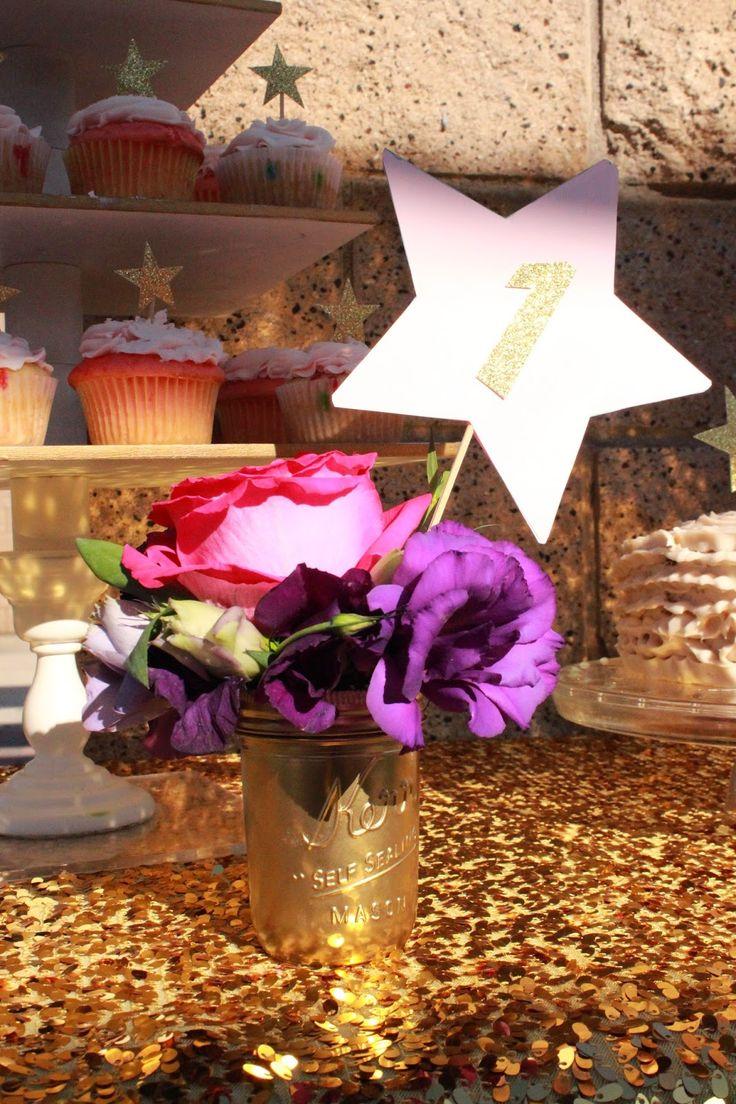 1st Birthday Star Centerpieces Twinkletwinklelittlestar