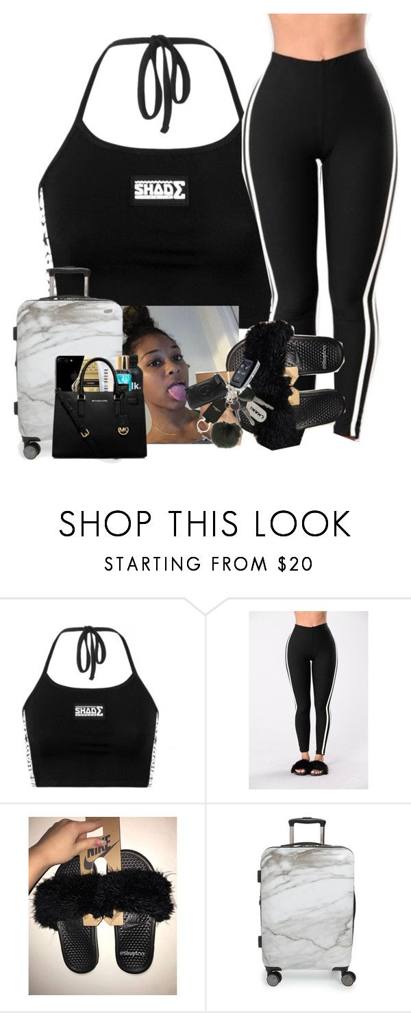 """""""Airplane trip ✈️"""" by fashionofficial01 ❤ liked on Polyvore featuring NIKE and CalPak"""