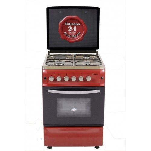 Citizens CF-6631-IROGIT 60x60 Free Standing Gas Cooker 3Gas+1Elec Ruby-series