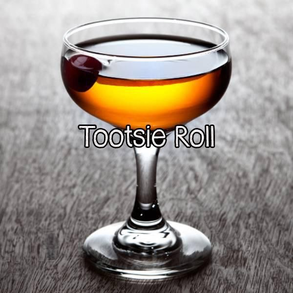 1 oz brown creme de cacao 1/2 oz vodka 1/2 oz triple sec 1 splash orange juice