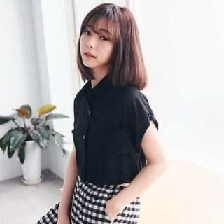 Cuffed Short-Sleeve Blouse from #YesStyle <3 BAIMOMO YesStyle.com