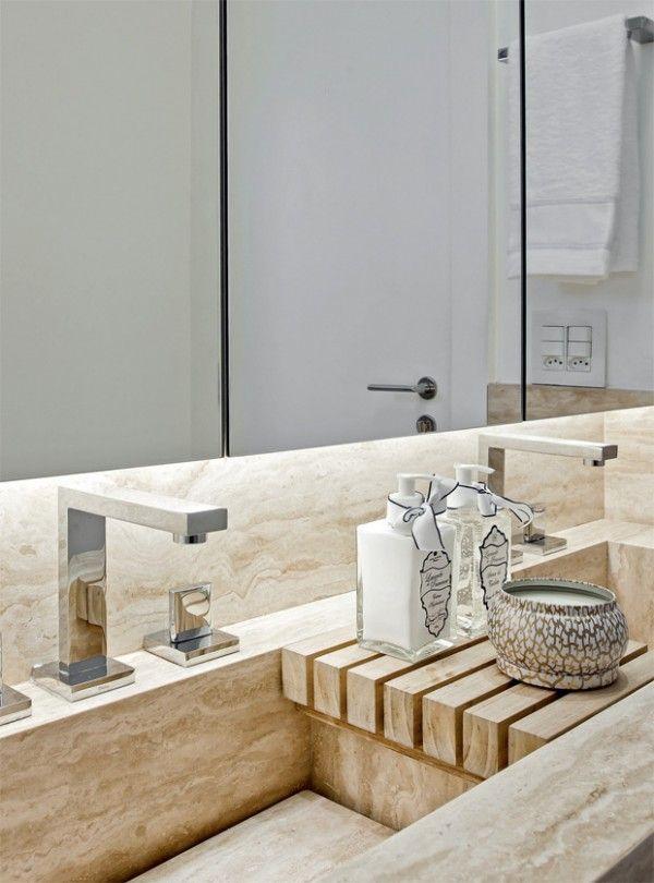 Banheiro pequeno de cores claras e bem resolvido « Acabamentos « Arquitetura + Interiores – Natalia Shinagawa #bathroom #detail