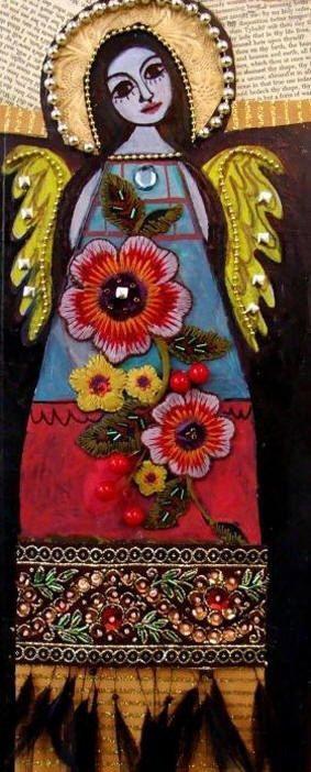 Mexican Folk Art Angels  HeatherGallerArt,