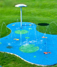 diy-splash-pad-kits. have a splash pad in your own back yard. Am I the only one that thinks this would be so fun?