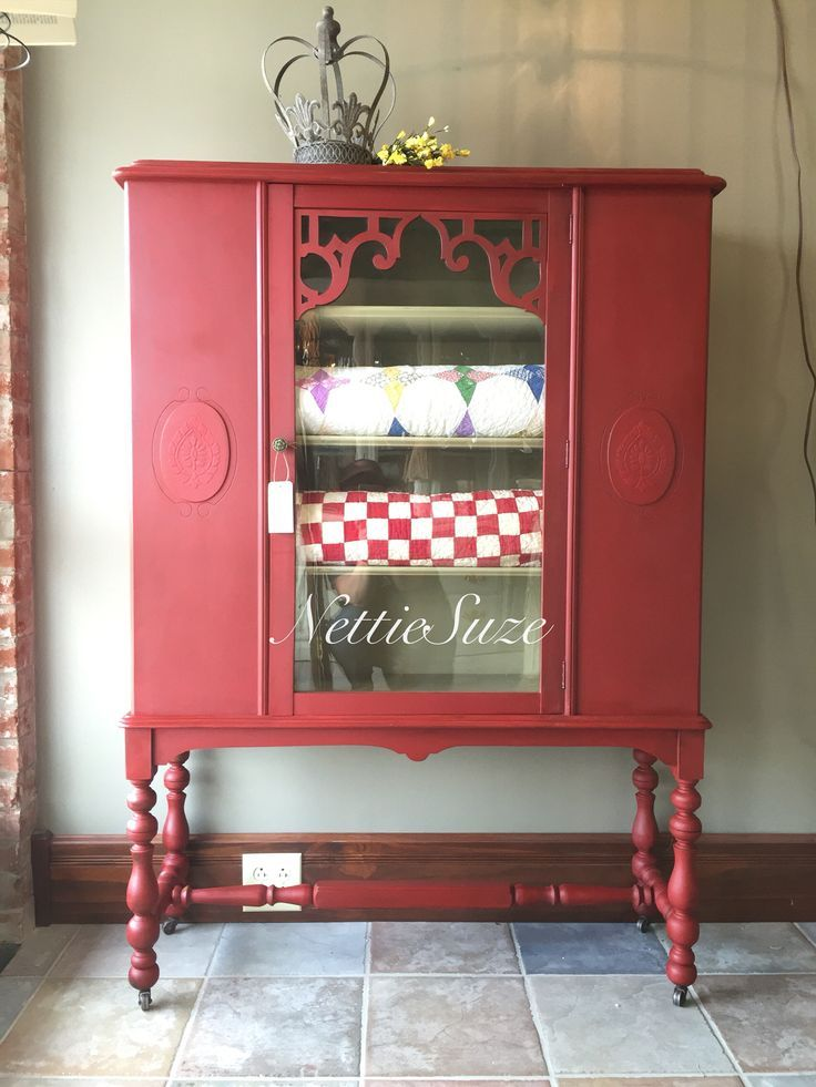 845 Best Red Painted Furniture Images On Pinterest