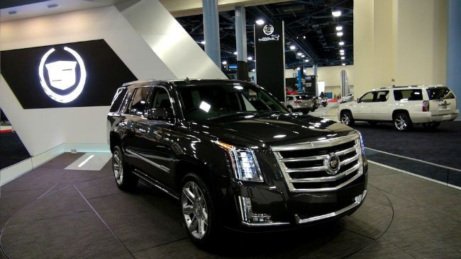 Interior of the Cadillac Escalade and roomy inside Can seat