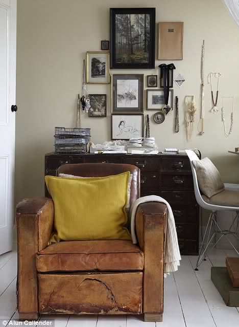 accessorize the chair we have: Interior Design, Idea, Interiors, Living Room, House, Space, Leather Chairs