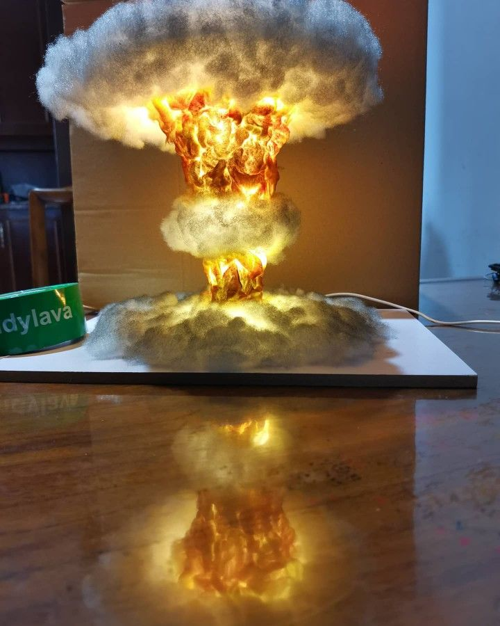 New Order Ship To La Usa In 2020 Nuclear Bomb Sale Handmade Lamp