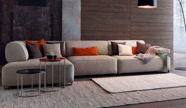 Sofás modulares para salones multiusos. Livings multiusos.