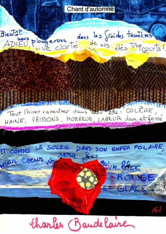 illustrer un po�me : Chant d'automne de Baudelaire , pour Art journal et gribouillage