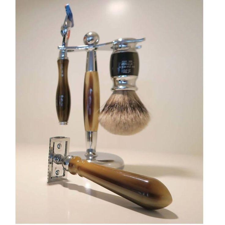 St. James of London shaving set and safety razor.
