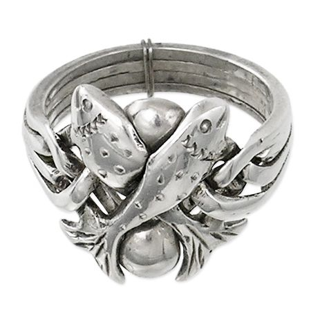 Turkey traditional Jewels – Turkish Band Ring with fish