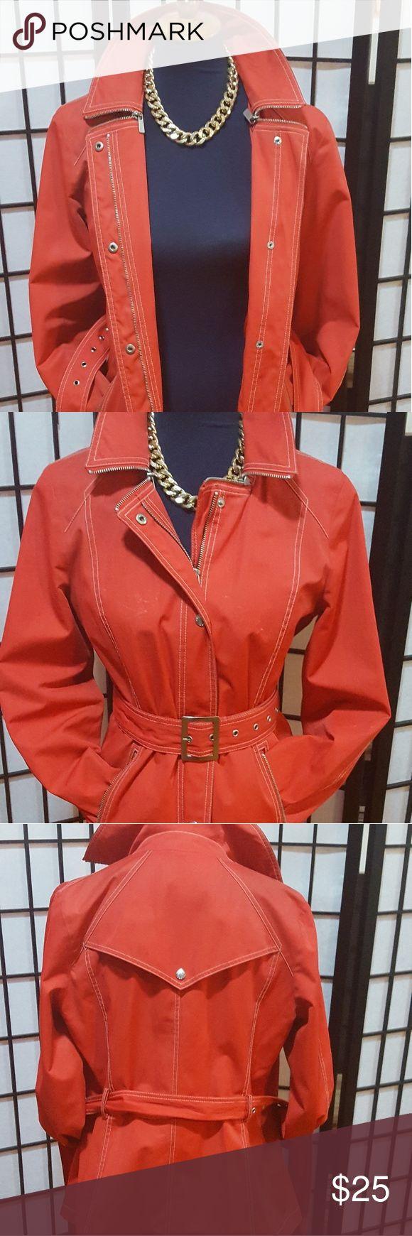 Raincoat Red stylish raincoat with belt. Michael Kors size medium Jackets & Coats