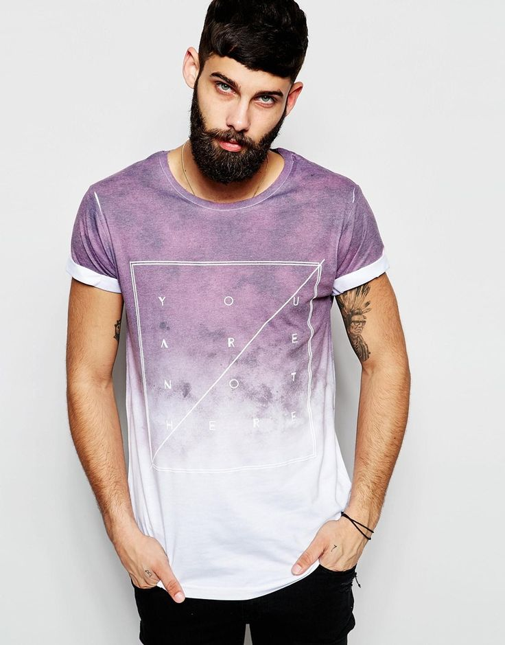 Image 1 of River Island Fade T-Shirt with You Are Not Here Print