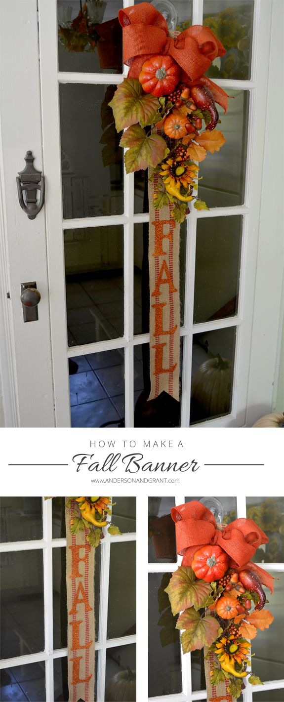 Fall Banner....A Great Alternative to a Wreath! | www.andersonandgrant.com