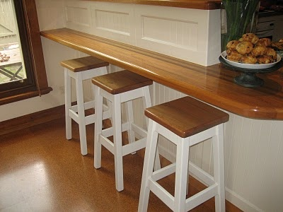 Breakfast Bar: Kitchens, Kitchen Stools, Wood Bars, Bar Stools, Kitchen Ideas