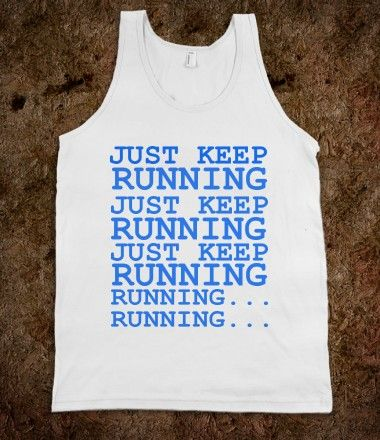 JUST KEEP RUNNING FINDING NEMO DISNEY RUNNER'S SHIRT