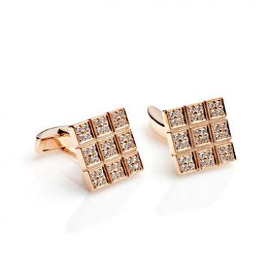 Мужские золотые запонки с бриллиантами