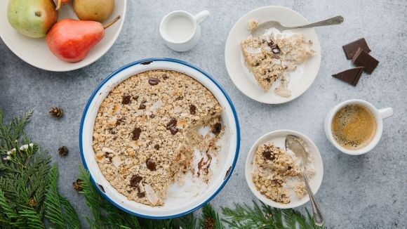 Nature's Path | Cardamom Pear and Dark Chocolate Baked Oatmeal