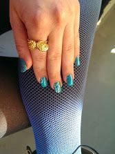 emerald shellac with glitterdust
