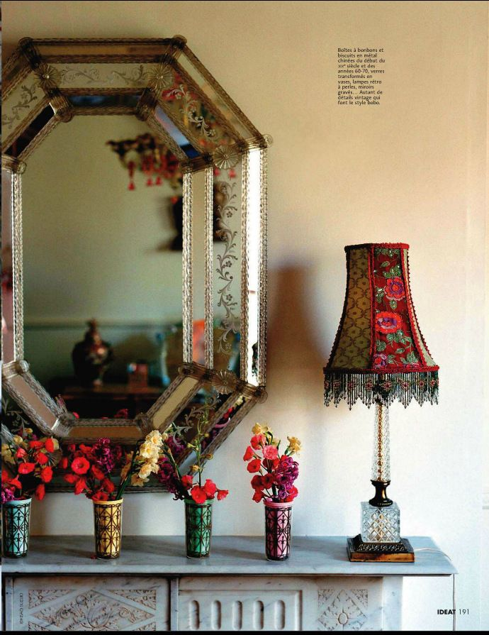 Bohemian design trends from elle decor france my for Elle decoration france