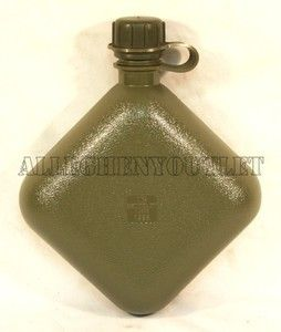 QTY 2 New Unissued USGI Military OD Green 2qt Collapsible Water Canteen 2 Quart Hydration - Allegheny Surplus Outlet