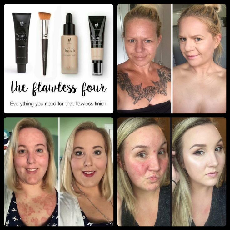 """The Flawless Four"" Flawless Face Every Single Time!!! Glorious Face & Eye Primer, Touch Mineral Liquid Foundation, Touch Skin Perfecting Concealer & Touch Liquid Foundation Brush! #Younique"