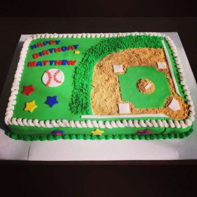 Design Your Own Sheet Cake : 17 Best ideas about Baseball Field Cake on Pinterest ...