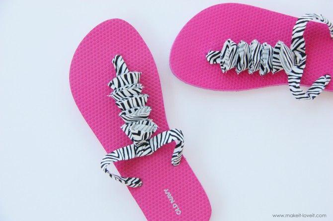 Cute flip flops: 10 Diy, Fashion Crafts Ideas, Flip Flops Refashion, Fashion Divas Design, Crafts Flip Flops, Diy Flip Flops Crafts, Flip Flops Diy, Cute Flip Flops, Flops Ideas