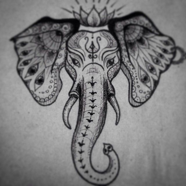 about Indian Elephant Tattoos on Pinterest   Mandala elephant tattoo ...