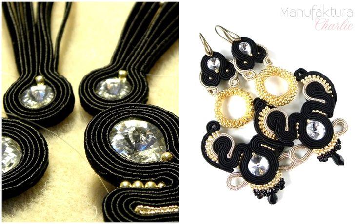 Lond soutache earrings, hand made by Manufaktura Charlie