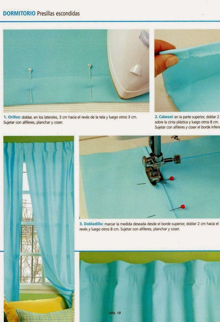 Las 25 mejores ideas sobre hacer cortinas en pinterest - Hacer cortinas en casa ...