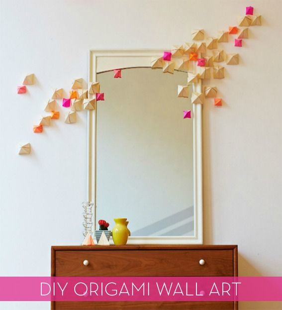 How To Make Sculptural Origami Pyramid Wall Art Decor Cool Diy Projects Origami Wall Art