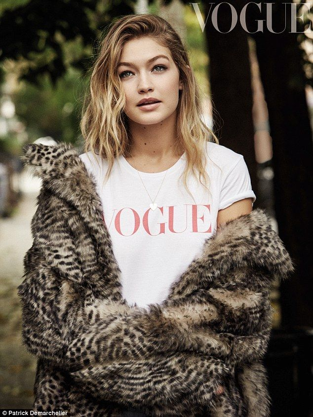 Fighting back: Gigi Hadid has blasted her body-shaming critics and vowed never to change as she poses for the new edition of Vogue magazine