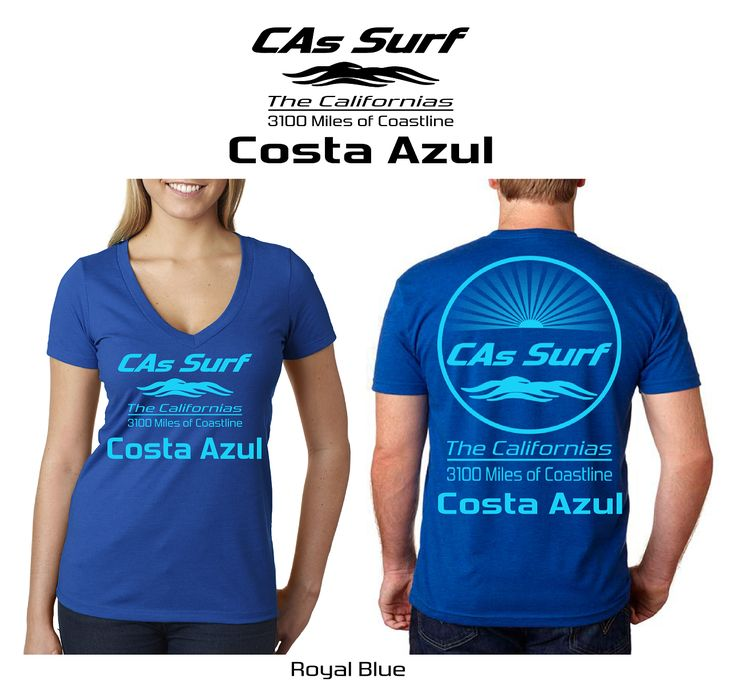California T-Shirts | Costa Azul, San José del Cabo, Baja California Sur -- Available for Retail Stores! Choose from over 250 surf locales from the mighty Pacific Ocean to the magical Sea of Cortez aka Gulf of California. Also, pick your own custom shirt/print color combos from a wide selection. Inquiries: info@GoCalifornias.com