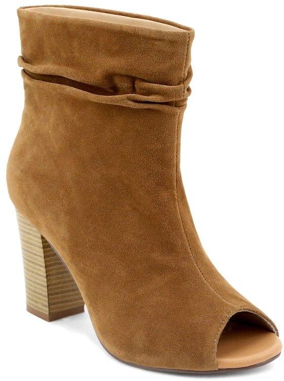 Olivia Miller Glendale Women's Slouchy Peep Toe Ankle Boots