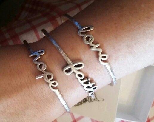Premier designs word play bracelet faith hope love for Faith hope love jewelry
