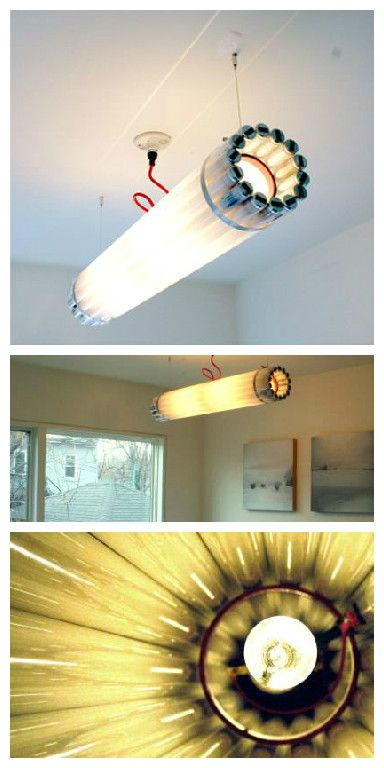 Recycled Fluorescent Tube Light