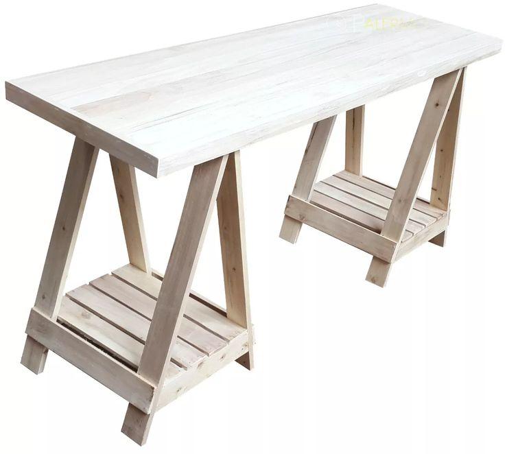 Las 25 mejores ideas sobre caballetes en pinterest base for Caballetes de madera para mesas