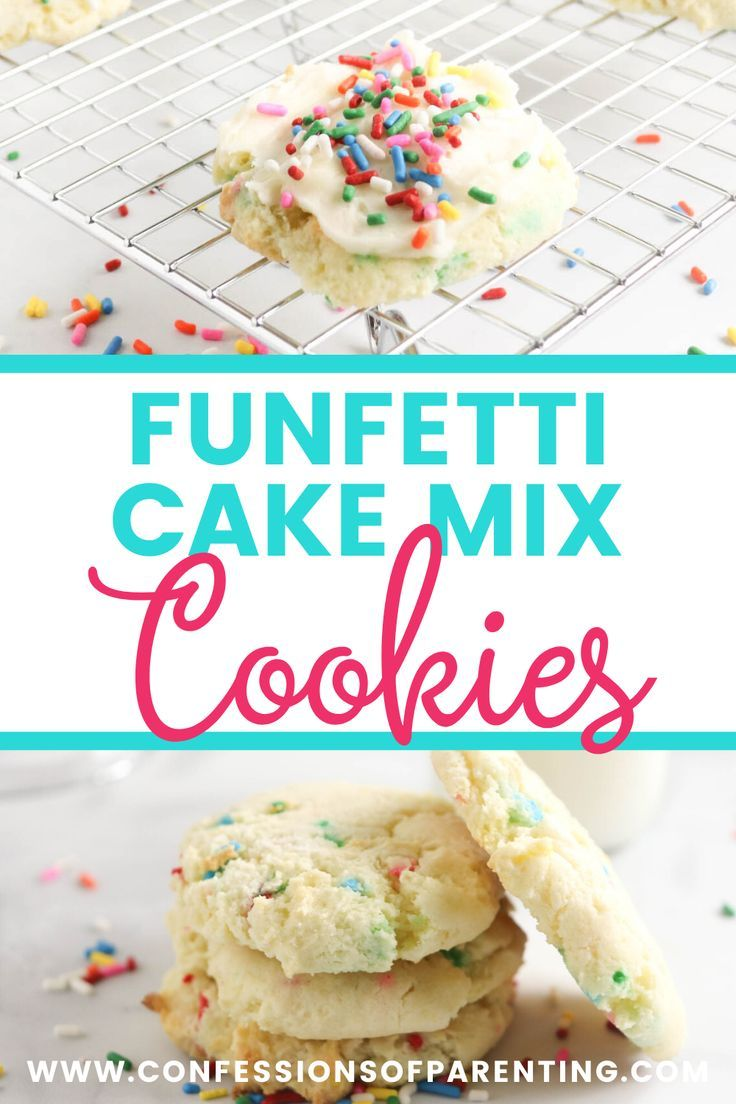Funfetti Cake Mix Cookies Recipe In 2020 With Images