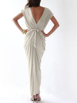 Hand Made Short Sleeve Casual Maxi Dress