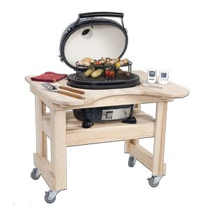 Primo Cypress Table For Oval Junior Kamado BBQ Grill