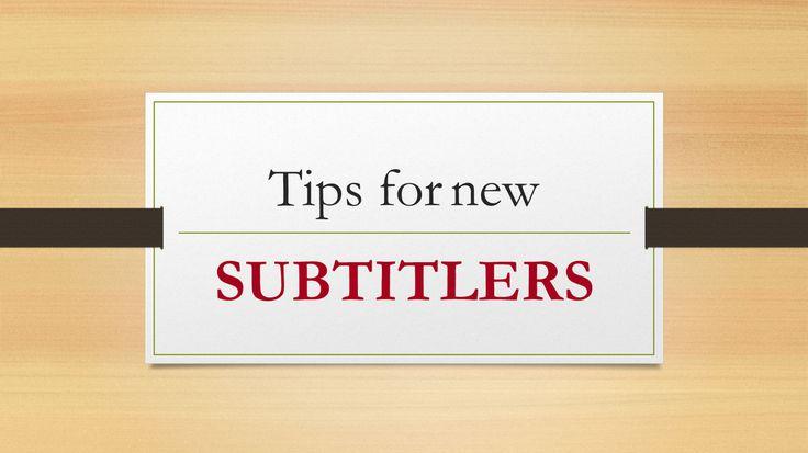 How to make it as a freelance subtitler | Translation England | via @earres