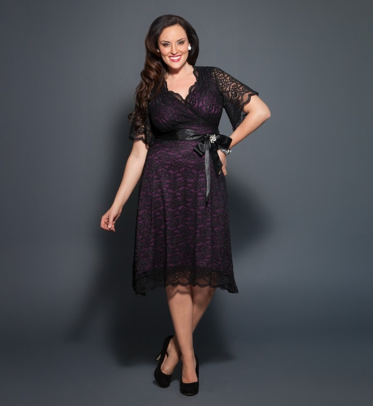 Retro Glam Lace Plus Size Dresses Kiyonna Eligent Prom Dresses