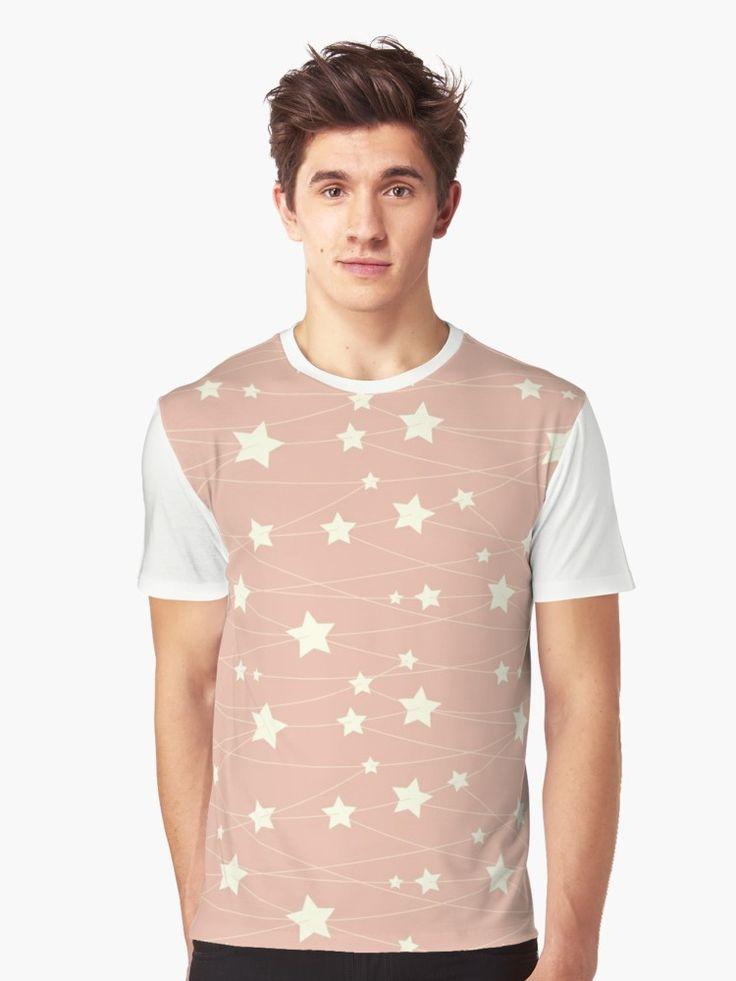 Hanging Stars - ashy pink by LunaPrincino  #redbubble #print #prints #art #design #designer #graphic #clothes #for #men #apparel #shopping #tshirt #tees #top #fashion #style #pattern #texture #pretty #cute #beautiful #dreamy #hanging #stars #ashy #pink #and #cream #beige #fantasy #starry #pale #pastel #magic #gift #idea #trend #summer #spring