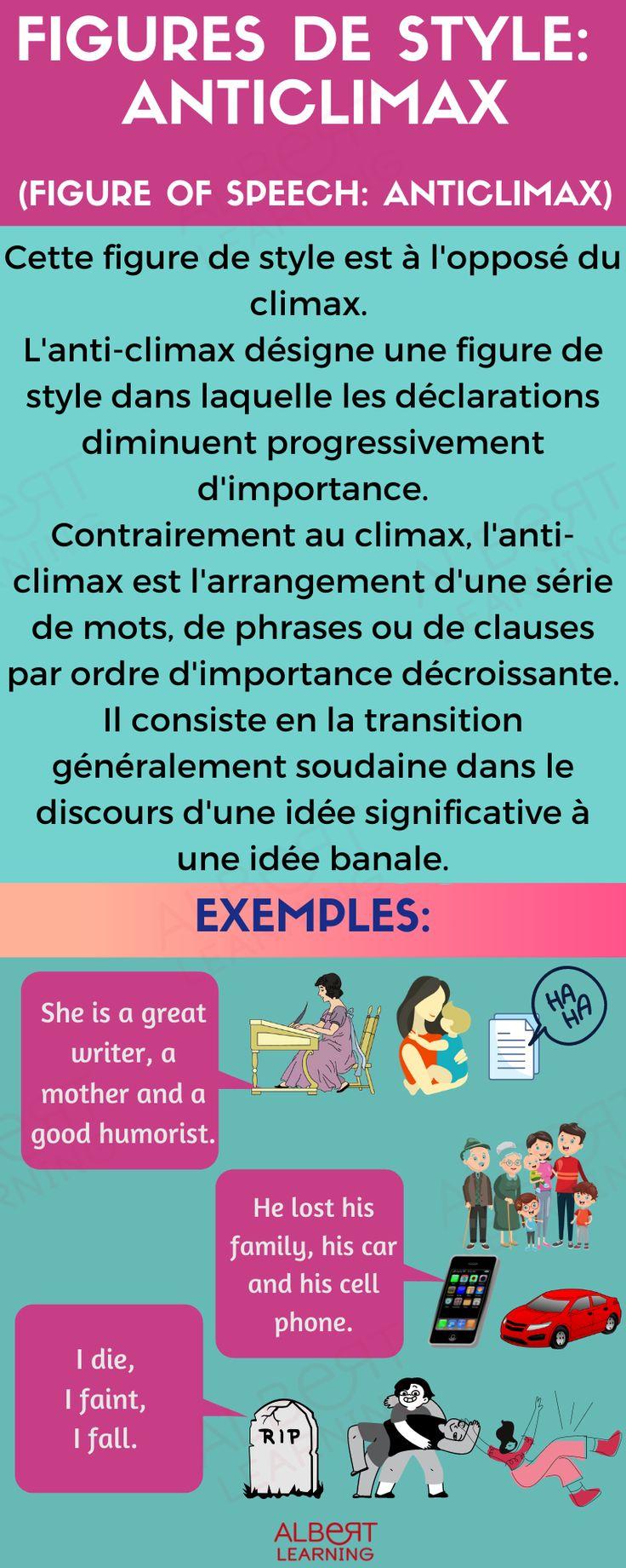 Parallélisme Figure De Style Exemple : parallélisme, figure, style, exemple, Figures, Style, Anticlimax, Apprendre, L'anglais,, Figure, Style,, L'anglais, Ligne