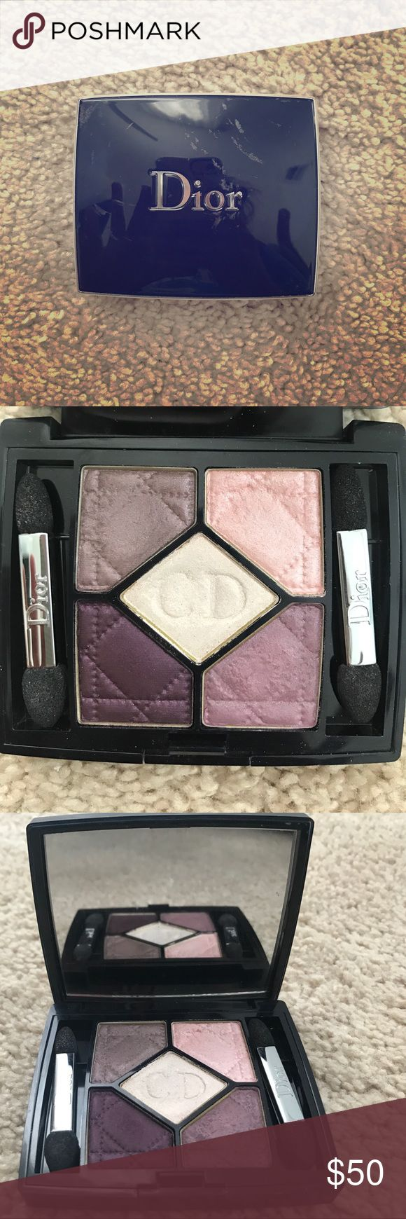 Christian Dior Eye Shadow Palette 970 Stylish Move Beautiful pigmented hues of purple! Perfect for people with any eye or skin colour! While it is authentic I don't have receipts to provide you with authenticity except my word, and since it has been used the price is lower and and probably way underpriced since I have a habit of buying expensive make up. I'm selling it unfortunately to pay for school so my loss is your gain! Still has lots of life in product as you can see! Christian Dior Makeup Eyeshadow