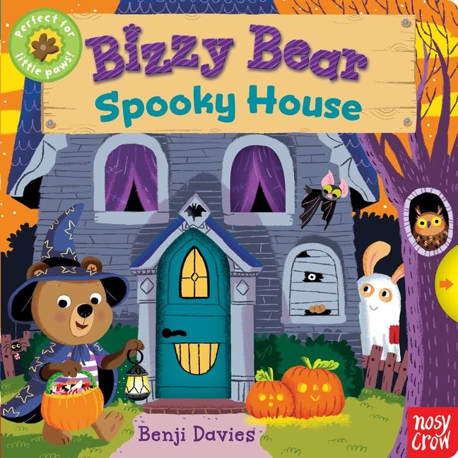 The ever-intrepid Bizzy Bear is visiting a super-spooky Halloween house. As he climbs the rickety stairs and walks the cobwebby corridors, all sorts of creepy characters appear from doors and hidey-holes. Bizzy remains undaunted — but where could he be going and what will he find there? Bizzy's latest adventure makes for a splendidly seasonal new addition to this popular series, which has sold more than a million copies worldwide. 9780763693275 / 0-3 yrs