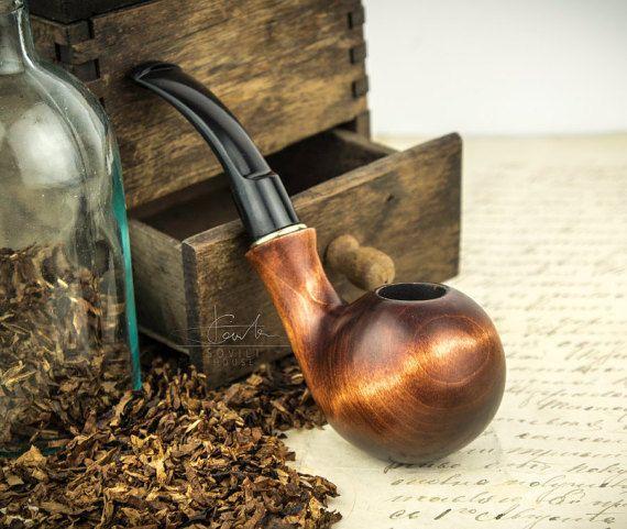 Smoking Pipe'. Wood carved smoking pipe. Tobacco by SovietHouse